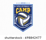 volleyball camp logo  emblem ... | Shutterstock .eps vector #698842477