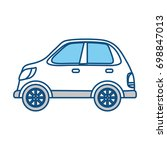 car vehicle isolated | Shutterstock .eps vector #698847013