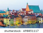 view on old town in warsaw at... | Shutterstock . vector #698851117