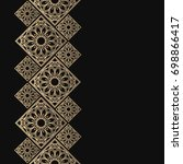 golden frame in oriental style. ... | Shutterstock .eps vector #698866417