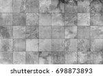 slate tile ceramic  seamless... | Shutterstock . vector #698873893