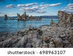 Mono Lake And Tufa Towers At...