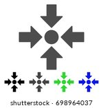 meeting point flat vector icon. ... | Shutterstock .eps vector #698964037