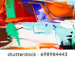 painted abstract background | Shutterstock . vector #698984443