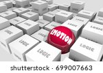 logic vs emotion cubes sphere... | Shutterstock . vector #699007663