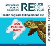 stop ocean plastic pollution...   Shutterstock .eps vector #699009607