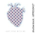 elegant  blue and red heart....   Shutterstock .eps vector #699010417