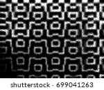 grunge halftone black and white.... | Shutterstock . vector #699041263