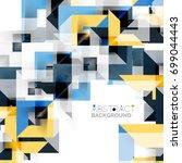 modern square geometric pattern ... | Shutterstock .eps vector #699044443