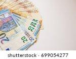 Euro Cash. Many Euro Banknotes...