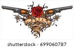 vector illustration of revolver ... | Shutterstock .eps vector #699060787
