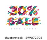 paper cut 30 percent off. 30 ...   Shutterstock .eps vector #699072703