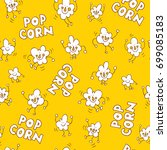 popcorn seamless pattern | Shutterstock .eps vector #699085183