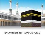 al haram mosque mecca or makkah ... | Shutterstock .eps vector #699087217