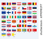 set of flags of all countries... | Shutterstock .eps vector #699098197