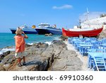 sea port - stock photo