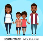 a young family. parents hold... | Shutterstock .eps vector #699111613