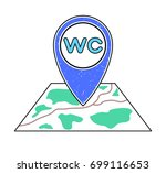 textured blue geotag  wc symbol ...