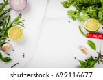 food cooking background  white... | Shutterstock . vector #699116677
