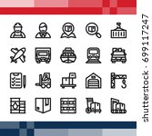 set of pixel perfect icon in... | Shutterstock .eps vector #699117247