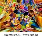 shards of paint series....   Shutterstock . vector #699120553