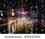 digital city series. interplay... | Shutterstock . vector #699123253
