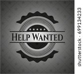 help wanted realistic black... | Shutterstock .eps vector #699134233