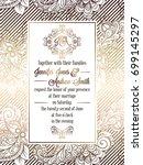 vintage baroque style wedding... | Shutterstock . vector #699145297