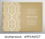 invitation or card template...   Shutterstock .eps vector #699146527