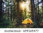 beautiful sunbeams through the... | Shutterstock . vector #699169477