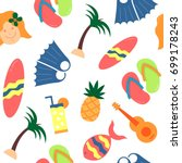 floral seamless pattern | Shutterstock .eps vector #699178243