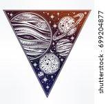 decorative planets in solar... | Shutterstock .eps vector #699204877