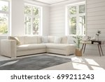 idea of white room with sofa... | Shutterstock . vector #699211243
