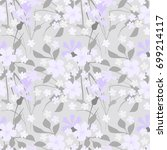 floral pattern. seamless cute... | Shutterstock .eps vector #699214117