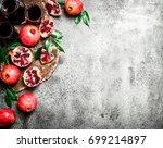 the juice of ripe pomegranate.... | Shutterstock . vector #699214897