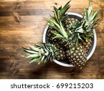 Ripe Pineapple In A Large Bowl...