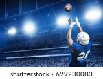 american football player... | Shutterstock . vector #699230083