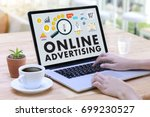online advertising website... | Shutterstock . vector #699230527