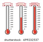 vector set of goal thermometers ... | Shutterstock .eps vector #699232537