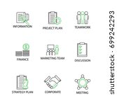 modern flat thin line icon set... | Shutterstock .eps vector #699242293