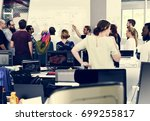 startup business team... | Shutterstock . vector #699255817