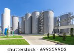 steel tanks at a chemical... | Shutterstock . vector #699259903