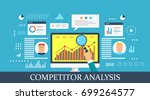 competitor analysis  web... | Shutterstock .eps vector #699264577