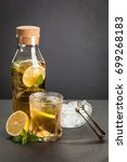 ice tea with lemon and mint   Shutterstock . vector #699268183