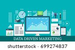 data driven marketing  digital... | Shutterstock .eps vector #699274837