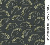 seamless pattern with mexican... | Shutterstock .eps vector #699277057