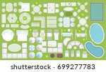 icons set. outdoor furniture... | Shutterstock .eps vector #699277783