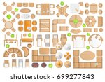 icons set. outdoor furniture... | Shutterstock .eps vector #699277843