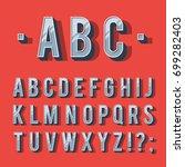 retro type font  vintage... | Shutterstock .eps vector #699282403