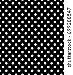 vector white dots seamless... | Shutterstock .eps vector #699288547